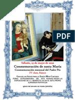 Conmemoración de santa María Virgen (Pascua) y Conmemoración mensual del Padre Pio. GUÍA DE LOS FIELES PARA LA SANTA MISA CANTADA. Kyrial Angelis