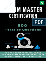 Scrum Master Certification_ 500 Practice Questions and Answers for Certificate Preparation and Training