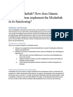 Modarbah and its use in islamic banking system.assignment 4. islamic economics.11may2020