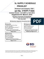 BD Pricing GSA Contract 2008 2012