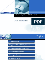 Availability Check & Transfer of requirements_Sales