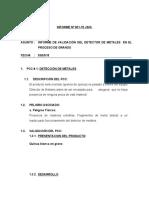 001-15- INFORME DE VALIDACIÓN DEL DETECTOR DE METALES
