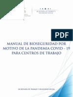 Manual General de Bioseguridad por motivo de Pandemia CODVID FINAL FINAL