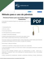 Método Para o Uso Do Pêndulo - Radiestesianet(1)