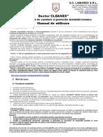 Manual de utilizare - Doctor CLEANEX
