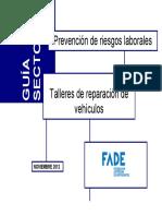 Guía sectorial. Talleres de reparación de vehículos