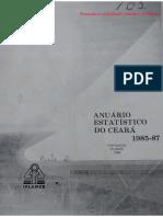 Anuário estatístico do Ceará 1985-87