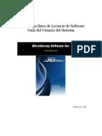 Online Software License Registration System - Spanish