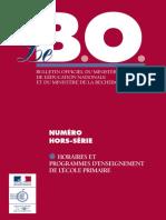 éducation nationale - programmes d'enseignement de l'école primaire (2002)