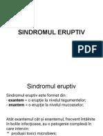 Sindromul eruptiv