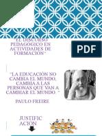 Actividad 1- discurso pedagogico