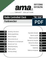 Hama Reveil Radiopilote Rc 550 Notice Edit