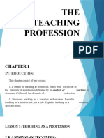 THE TEACHING PROFESSION LESSON 1 TEACHING AS A PROFESSION
