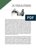 DIFERENCIAS DEL PROCESO DE INVESTIGACIÓN PENAL INQUISITIVO Y ACUSATORIO EN VENEZUELA