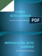12 ineficacia del acto juridico