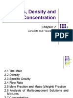 Chap 2 Moles, Density and Concentration_Himmelbleau7th