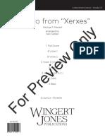 Handel Xerxes Allegro (String Orchestra)