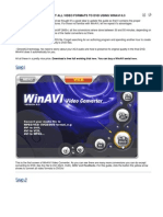 How to Convert All Video Formats to Dvd Using Winavi 6