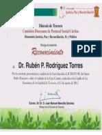 Laudato Si. Conferencia Reconocimiento Por Obispo de Texcoco 15082015 002