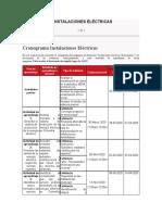 CRONOGRAMA INSTALACIONES ELÉCTRICAS
