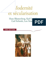 Modernité et Secularisation (H Blumenberg, C Schmitt, L Strauss, K Lowith)