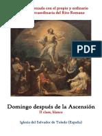 Domingo después de la Ascensión. Propio y Ordinario de la Santa Misa
