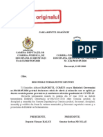 Raportul comisiilor de specialitate pentru HG 394