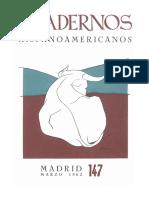 Cuadernos Hispanoamericanos - Madrid marzo 1962 - 147