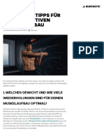 5 Trainingstipps für einen effektiven Muskelaufbau