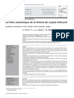 Anatomic evaluation of the female of the infertile couple torre 2010