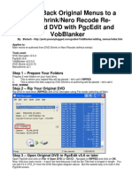 Adding Back Original Menus to a Dvd Shrink-nero Recode