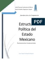 Ejercico Word. Estructura Política del Estado Mexicano