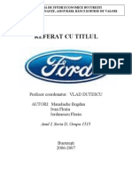 Proiect Marketing Ford