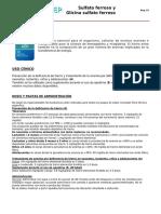 Sulfato ferroso y Glicina sulfato ferroso