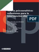 Teoría psicoanalítica; reflexiones para la intervención clínica