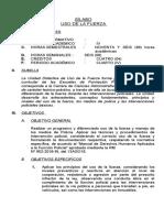 USO DE LA FUERZA SILABUS II