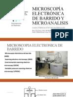 MICROSCOPIA ELECTRONICA Y MICROANALISIS