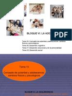 Tema 15 . Desarrollo de la Adolescencia (general)