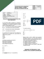 evaluación primer corte 5.