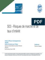 S03 - (NEW FRE) Risques de Marche Et de Taux Dinteret (1)