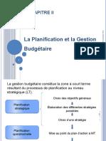 Chapitre II ; la planification et la gestion budgetaire (1)