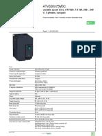 Altivar 320 Variable Frequency Drive VFD_ATV320U75M3C