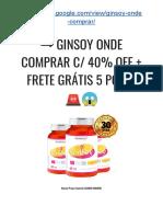 → GINSOY Onde COMPRAR C/ 40% OFF + Frete GRÁTIS 5 POTES ??