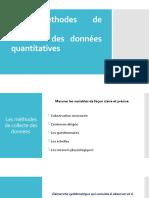 Les méthodes de collecte des données quantitatives