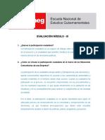 Módulo III Cuestionario Relaciones Comunitarias y Responsabilidad Social