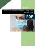 Pflege- Und Desinfektionsprotokoll, Für Das Haus in Covid-19 Mal