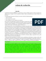 Objectifs et questions de recherche