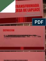 TRANSFORMADA  INVERSA DE LAPLACE