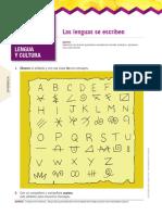 Escritura en otras lenguas