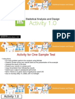 Activity 1.0- Statistical Analysis and Design